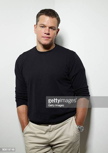 "Actor Matt Damon from the film ""The Informant!"" poses for a portrait during the 2009 Toronto International Film Festival at The Sutton Place Hotel on..."
