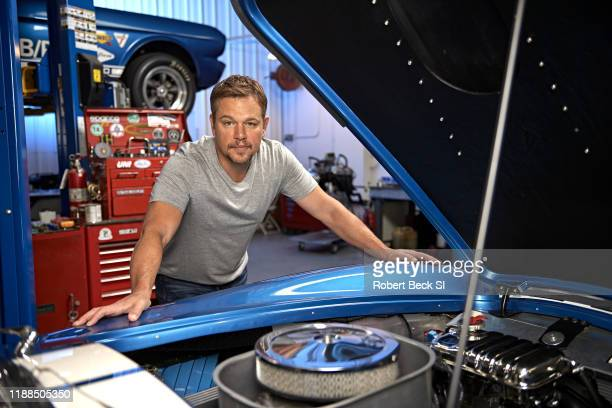 Actor Matt Damon is photographed for Sports Illustrated on August 8 2019 at the Shelby Building in Gardena California PUBLISHED IMAGE CREDIT MUST...