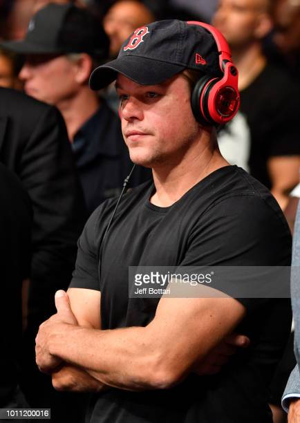 Actor Matt Damon is seen in attendance during the UFC 227 event inside Staples Center on August 4 2018 in Los Angeles California