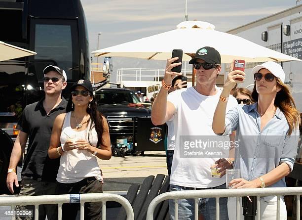 Actor Matt Damon Luciana Damon Rande Gerber and model/actress Cindy Crawford attend The Horsemen Flight Team Event Hosted By Dan Friedkin And Lauren...