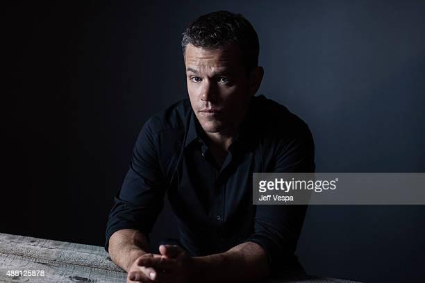 Actor Matt Damon of 'The Martian' poses for a portrait at the 2015 Toronto Film Festival at the TIFF Bell Lightbox on September 12 2015 in Toronto...
