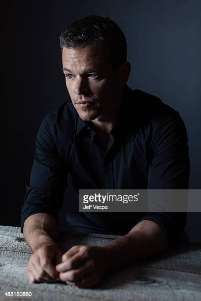 Actor Matt Damon of 'The Martian' poses for a portrait at the 2015 Toronto Film Festival at the TIFF Bell Lightbox on September 11 2015 in Toronto...