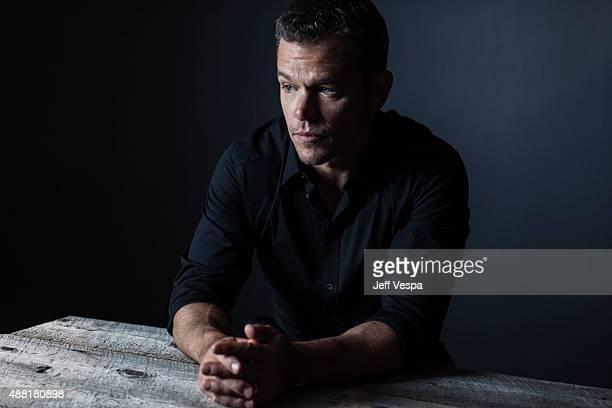 Actor Matt Damon of The Martian poses for a portrait at the 2015 Toronto Film Festival at the TIFF Bell Lightbox on September 11 2015 in Toronto...