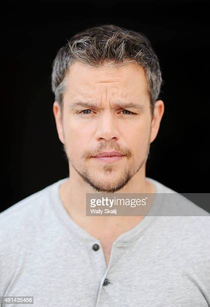 Actor Matt Damon star of new film 'the Martian' is photographed for Los Angeles Times on August 26 2015 in Los Angeles California PUBLISHED IMAGE...