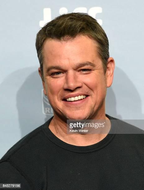 Actor Matt Damon the 'Downsizing' press conference during the 2017 Toronto International Film Festival at TIFF Bell Lightbox on September 10 2017 in...