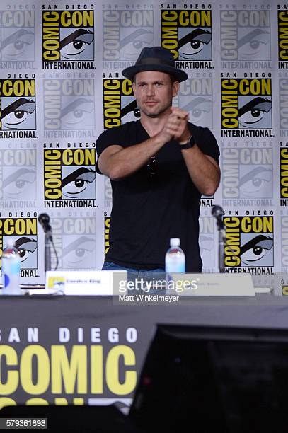 Actor Matt Davis attends the The Vampire Diaries panel during ComicCon International 2016 at San Diego Convention Center on July 23 2016 in San Diego...