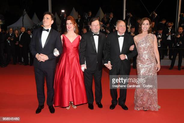 Actor Matt Dillon actress Siobhan Fallon Hogan director Lars von Trier actor Bruno Ganz and actress Sofie Grabol attend the screening of The House...