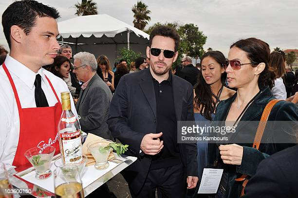 Actor Matt Dillon and guest at Stoli at the 2008 Film Independent's Spirit Awards at the Santa Monica Pier on February 23, 2008 in Santa Monica,...