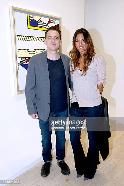 Actor Matt Dillon and his companion attend the 'Picasso Mania' Press Preview Held at Grand Palais on October 4 2015 in Paris France
