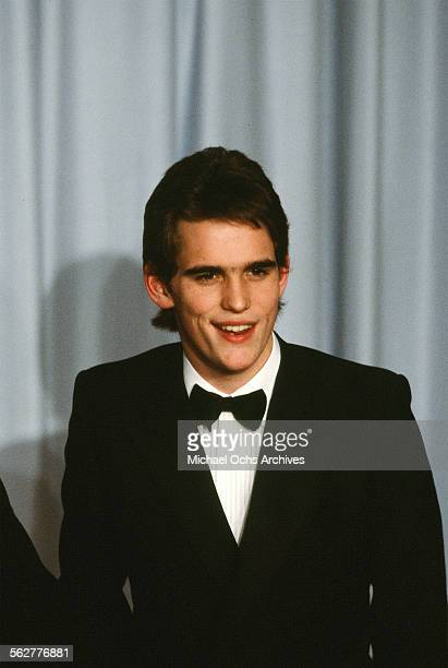 Actor Matt Dillon poses backstage during the 55th Academy Awards at Dorothy Chandler Pavilion Los Angeles California