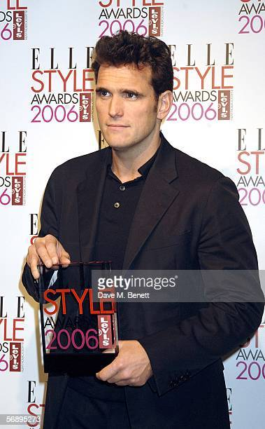 Actor Matt Dillon poses backstage in the Awards Room with the Actor award at the ELLE Style Awards 2006 the fashion magazine's annual awards...