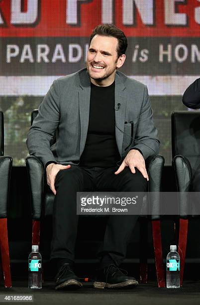 Actor Matt Dillon speaks onstage during the 'Wayward Pines' panel discussion at the FOX portion of the 2015 Winter TCA Tour at the Langham Hotel on...