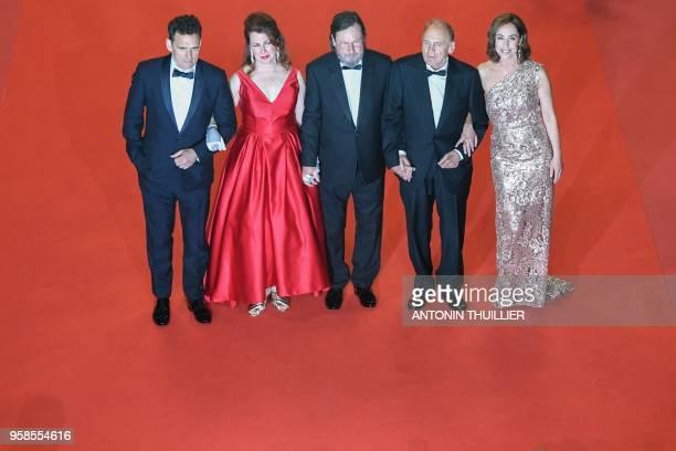 US actor Matt Dillon US actress Siobhan Fallon Hogan Danish director Lars Von Trier Swiss actor Bruno Ganz and Danish actress Sofie Grabol pose as...