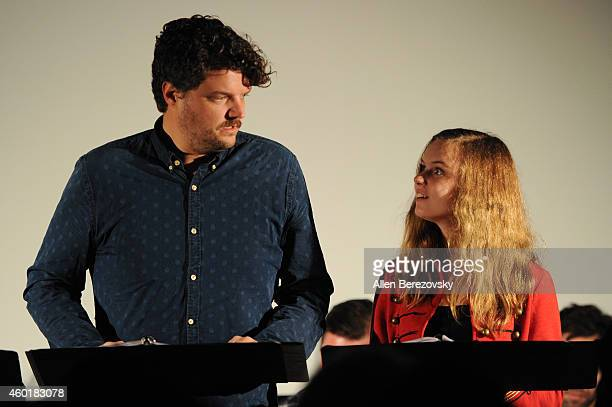 Actor Matt Jones and actress Brighid Fleming participate in Sundance Institute Feature Film Program screenplay reading of Still at The Microsoft...