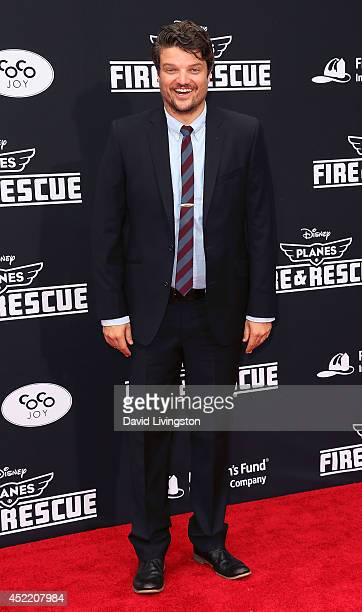 Actor Matt Jones attends the premiere of Disney's Planes Fire Rescue at the El Capitan Theatre on July 15 2014 in Hollywood California