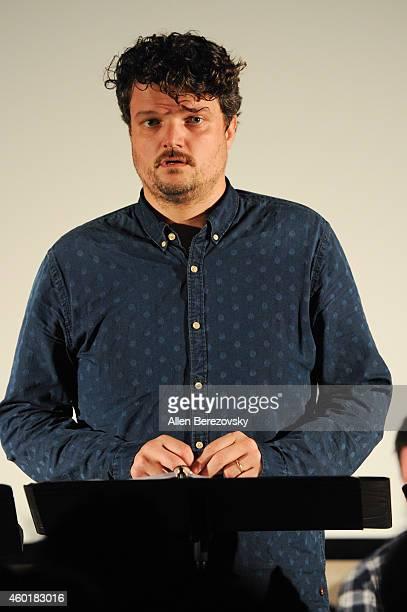 Actor Matt Jones participates in Sundance Institute Feature Film Program screenplay reading of Still at The Microsoft Lounge on December 8 2014 in...