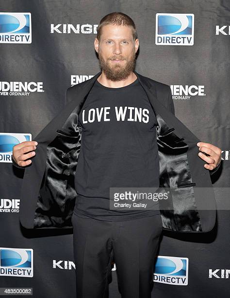 Actor Matt Lauria attends the DIRECTV's presentation of KINGDOM at the 2015 Summer TCA Press Tour at The Beverly Hilton Hotel on August 9 2015 in...