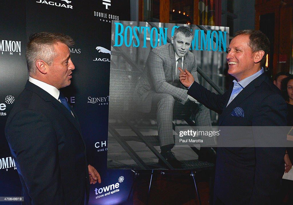 Actor Matt LeBlanc and Boston Common Magazine Publisher Glen Kelley attend the Boston Common Magazine Celebration of its Spring Issue Hosted by Cover Star, Matt LeBlanc on February 20, 2014 in Boston, Massachusetts.