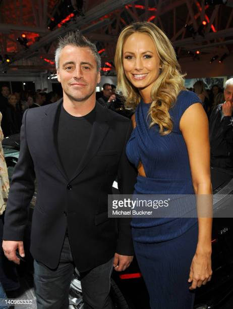 Actor Matt LeBlanc and TV personality Stacy Keibler attend the Audi Beverly Hills dealership grand opening ceremony on March 8 2012 in Beverly Hills...