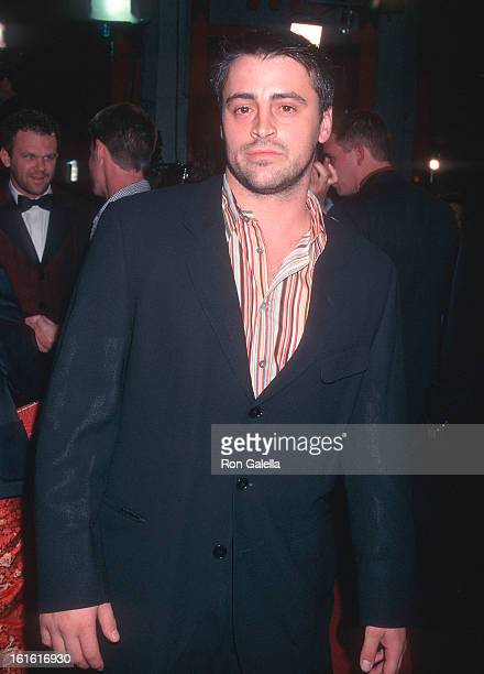 Actor Matt LeBlanc attends the 'Boogie Nights' Hollywood Premiere on October 15 1997 at the Mann's Chinese Theatre in Hollywood California