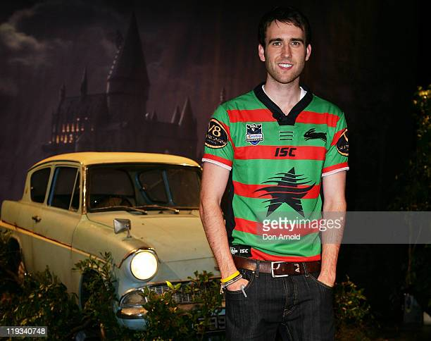 Actor Matt Lewis who plays Neville Longbottom in the Harry Potter Series poses at a preview event for the 'Harry Potter An Exhibition' preview at the...