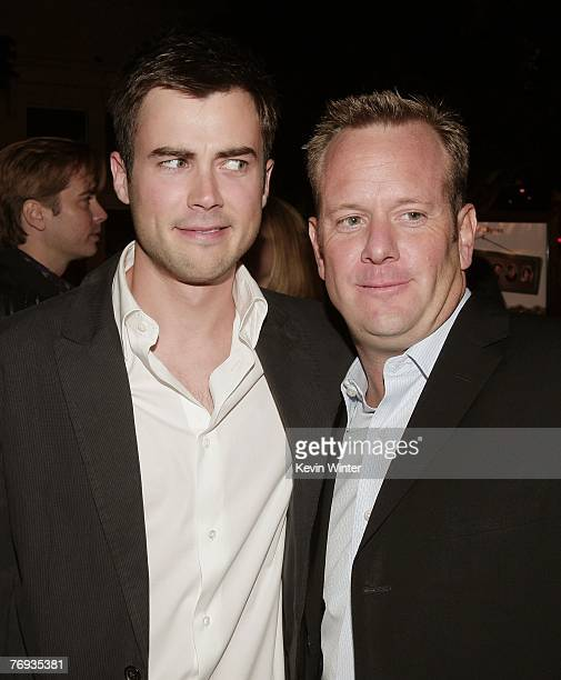 Actor Matt Long and producer David Robinson talk at the premiere of Universal Pictures and Morgan Creek Production's Sydney White at the Mann Bruin...