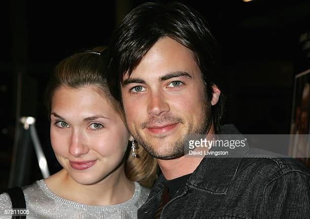 Actor Matt Long and wife Lora arrive at the premiere of Standing Still at the Arclight Theater on April 10 2006 in Hollywood California