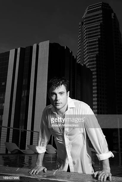 Actor Matt Long is photographed for Marie Claire UK on December 11 2006 in Los Angeles California
