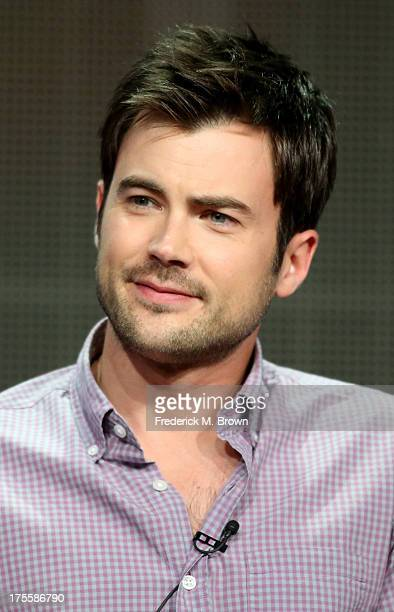 Actor Matt Long speaks onstage during the Lucky 7 panel discussion at the Disney/ABC Television Group portion of the Television Critics Association...