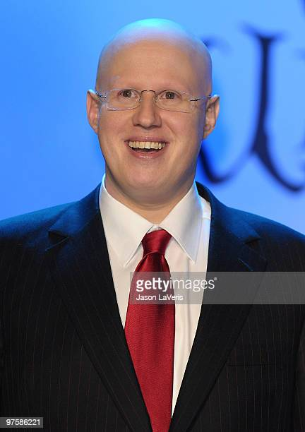 Actor Matt Lucas attends the 'Alice In Wonderland' Great Big Ultimate Fan Event at Hollywood Highland Courtyard on February 19 2010 in Hollywood...