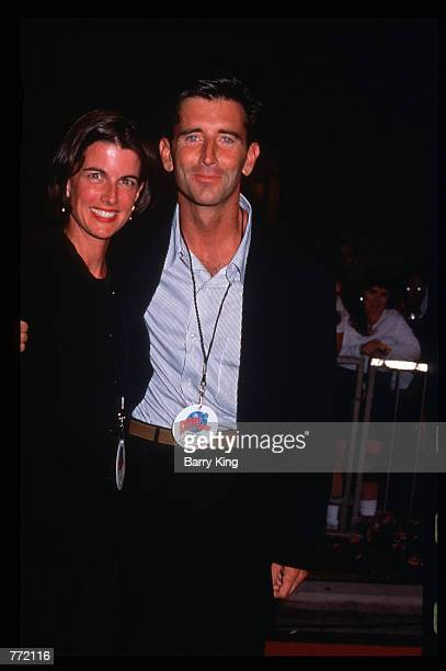 Actor Matt McCoy and his wife attend the opening of Planet Hollywood September 17 1995 in Los Angeles CA The Beverly Hills branch had one of the most...