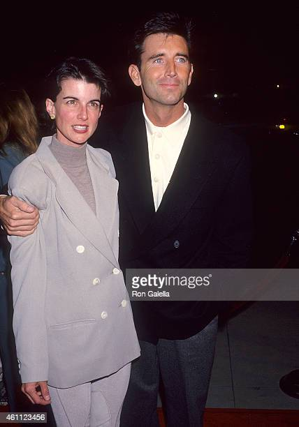 Actor Matt McCoy and wife Mary attend the Mrs Doubtfire Beverly Hills Premiere on November 22 1993 at the Academy of Motion Picture Arts Sciences in...