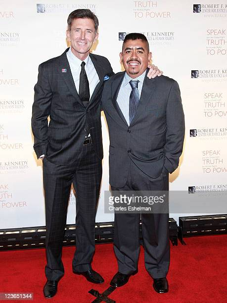 Actor Matt McCoy and worker activist Lucas Benitez attend the 2010 Robert F Kennedy Center for Justice Human Rights Ripple of Hope Awards Dinner at...