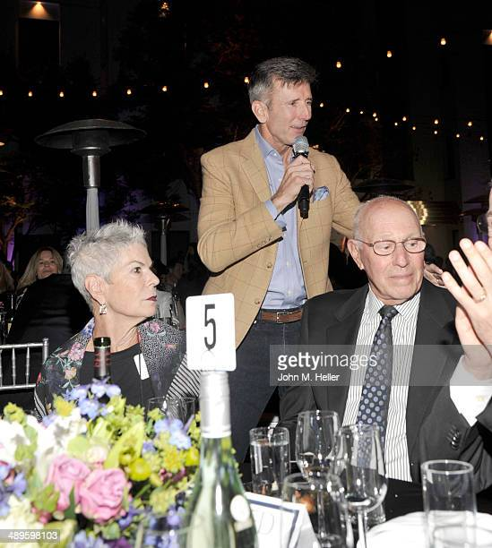 Actor Matt McCoy helps to raise money during the live auction at the 7th Annual Dealing For Duchenne Gala at the Sony Pictures Studios on May 10 2014...