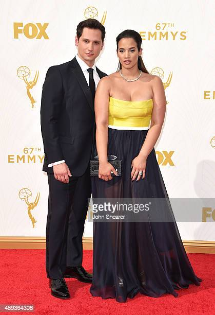 Actor Matt McGorry and actress Dascha Polanco attend the 67th Annual Primetime Emmy Awards at Microsoft Theater on September 20 2015 in Los Angeles...