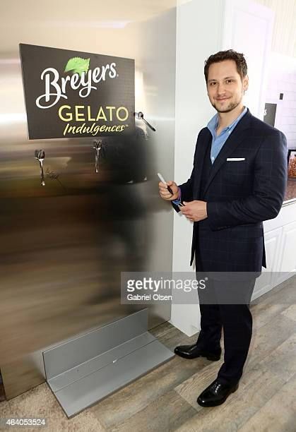 Actor Matt McGorry stopped by the Breyers Gelato Indulgences Lounge backstage at the 30th Annual Film Independent Spirit Awards on February 21 2015...