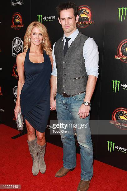 """Actor Matt Mullins and guest attend the """"Mortal Kombat Legacy"""" digital series premiere celebration at Saint Felix II on April 14, 2011 in Hollywood,..."""