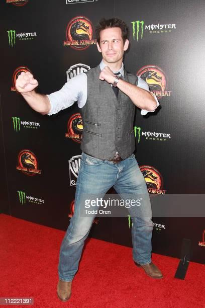 "Actor Matt Mullins attends the ""Mortal Kombat Legacy"" digital series premiere celebration at Saint Felix II on April 14, 2011 in Hollywood,..."
