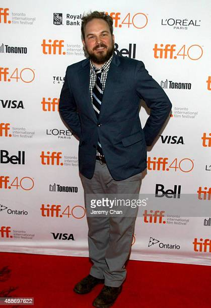 Actor Matt Peters attends the Southbound photo call during the 2015 Toronto International Film Festival at Ryerson Theatre on September 16 2015 in...