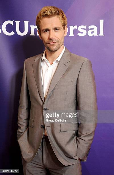 Actor Matt Ryan arrives at the 2014 Television Critics Association Summer Press Tour NBCUniversal Day 1 at The Beverly Hilton Hotel on July 13 2014...