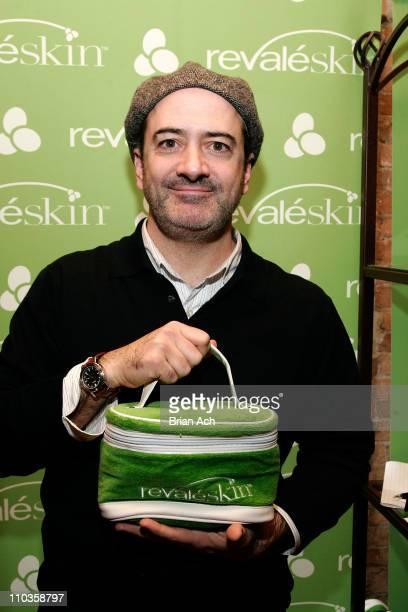 Actor Matt Servitto visits the Revaleskin Rejuvenation Lounge at the Phoenix Gallery on January 21 2008 in Park City Utah