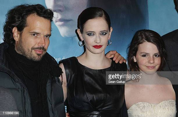 Actor Matt Smith actress Eva Green and actress Ruby O Fee attend the German premiere of 'Womb' at the Passage Kino on March 28 2011 in Hamburg Germany