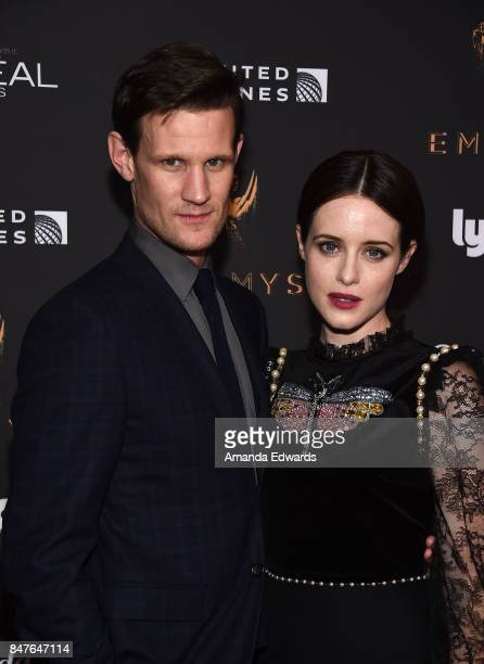 Actor Matt Smith and actress Claire Foy arrive at the Television Academy's Performers Nominee Reception at the Wallis Annenberg Center for the...