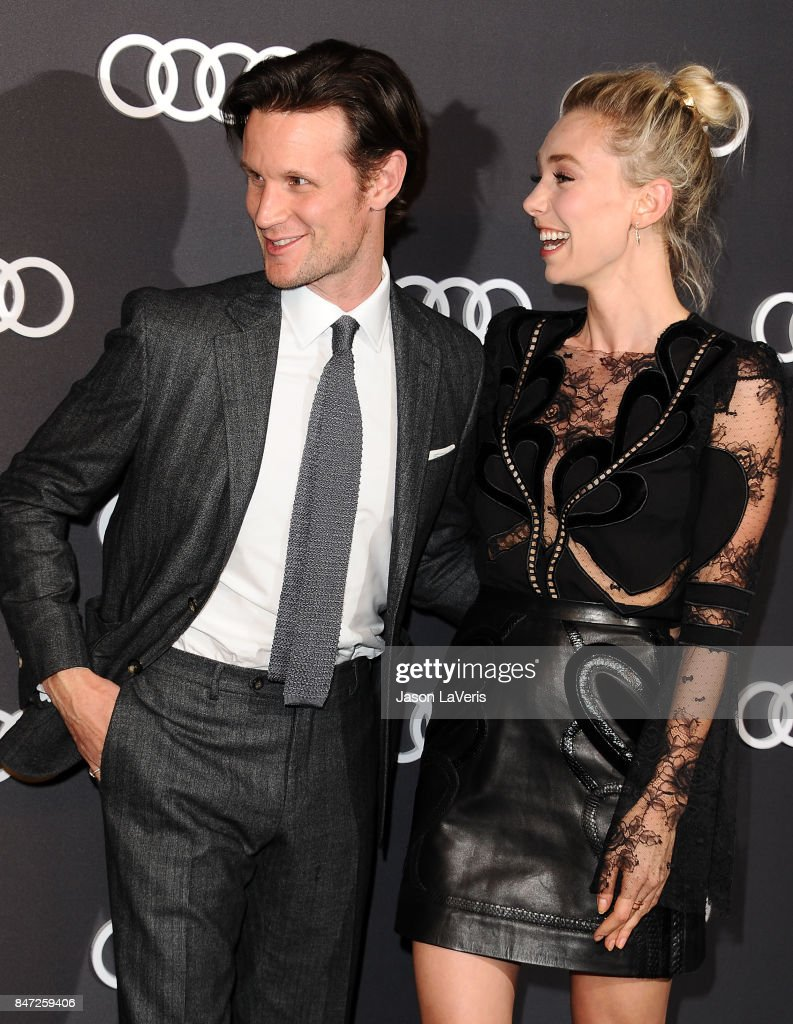 Actor Matt Smith and actress Vanessa Kirby attend the Audi celebration for the 69th Emmys at The Highlight Room at the Dream Hollywood on September 14, 2017 in Hollywood, California.
