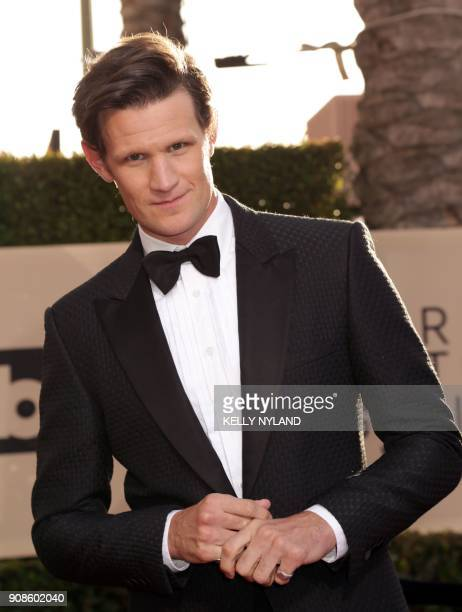 Actor Matt Smith arrives for the 24th Annual Screen Actors Guild Awards at the Shrine Exposition Center on January 21 in Los Angeles California / AFP...