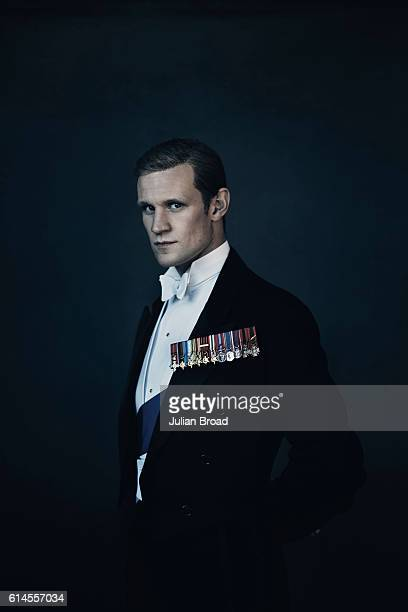Actor Matt Smith as Prince Philip from the series Crown is photographed for Vanity Fair on February 16, 2016 in Borehamwood, England.