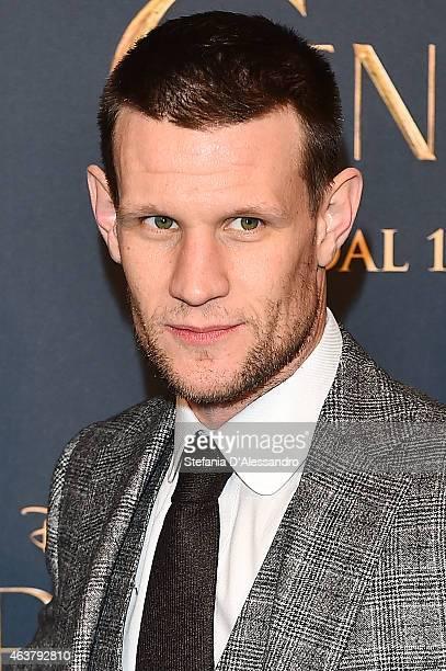 "Actor Matt Smith attends ""Cinderella"" Screening held at Cinema Odeon on February 18, 2015 in Milan, Italy."
