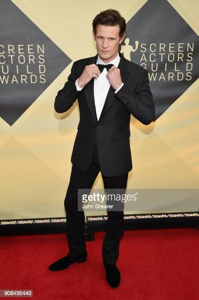 Actor Matt Smith attends the 24th Annual Screen Actors Guild Awards at The Shrine Auditorium on January 21 2018 in Los Angeles California