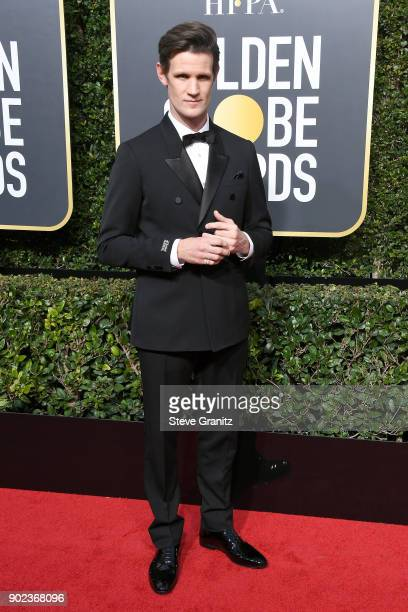 Actor Matt Smith attends The 75th Annual Golden Globe Awards at The Beverly Hilton Hotel on January 7 2018 in Beverly Hills California