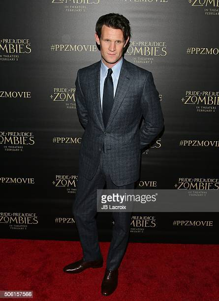 Actor Matt Smith attends the premiere of Screen Gems' 'Pride and Prejudice and Zombies' on January 21 2016 in Los Angeles California